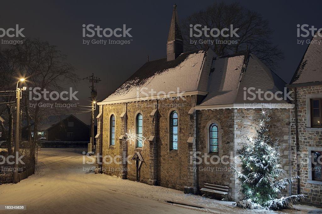 Little Chapple at Christmas stock photo