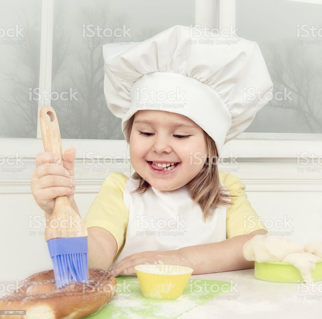 Little Chef At The Kitchen stock photo