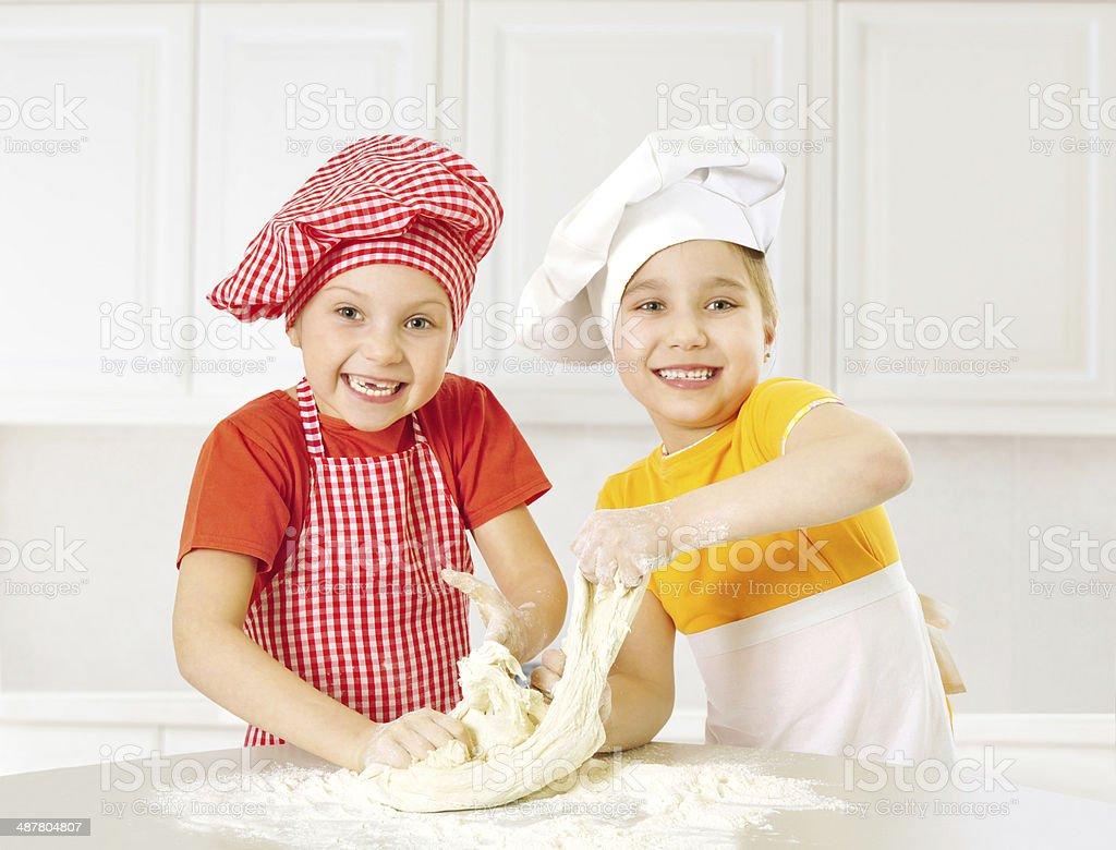 Little chefs stock photo