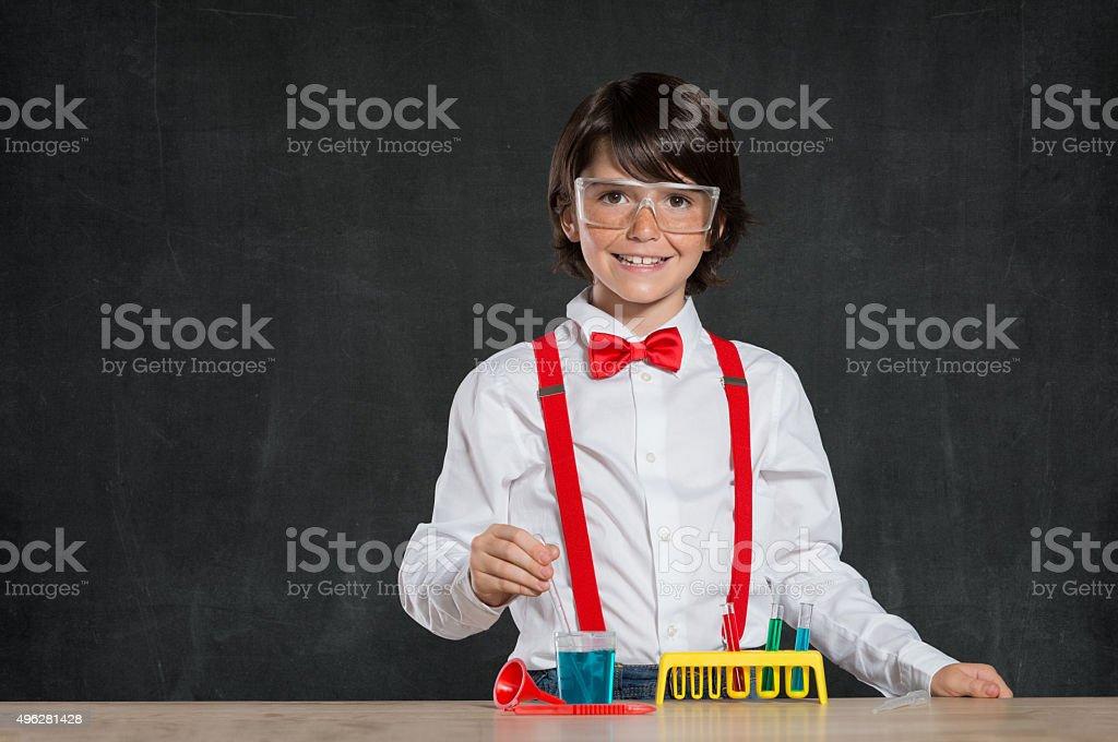 Little chemist stock photo