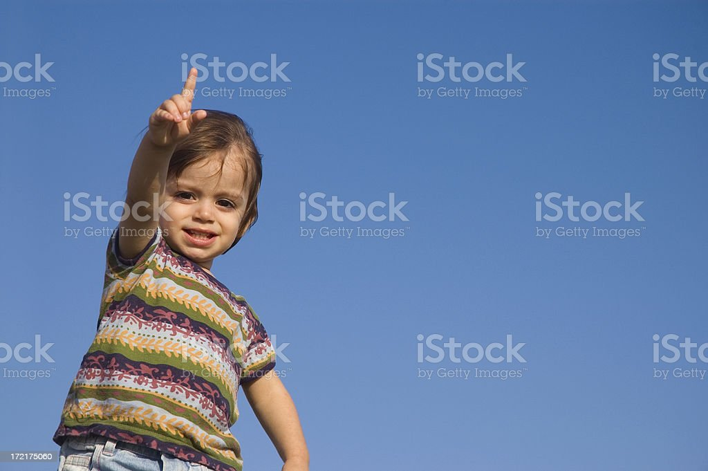 little child and sky royalty-free stock photo