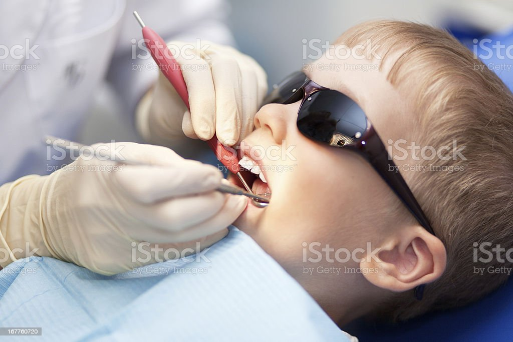 Little child at the dantist's clinic royalty-free stock photo