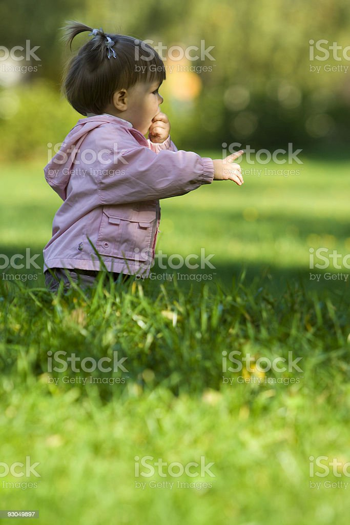 Little  child in park royalty-free stock photo
