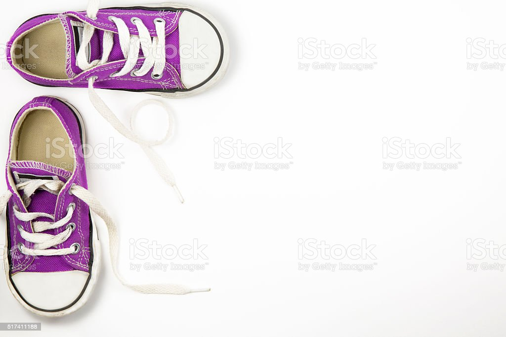 little child sneakers shoes stock photo