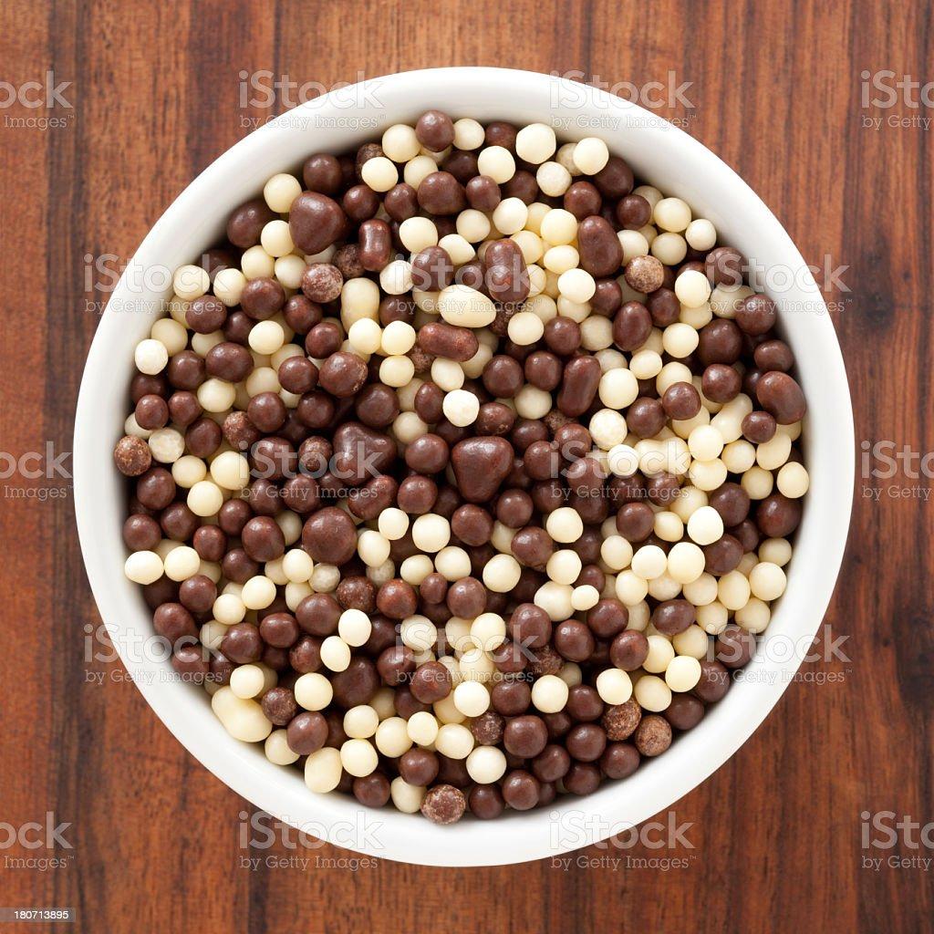 Little chocolate balls royalty-free stock photo