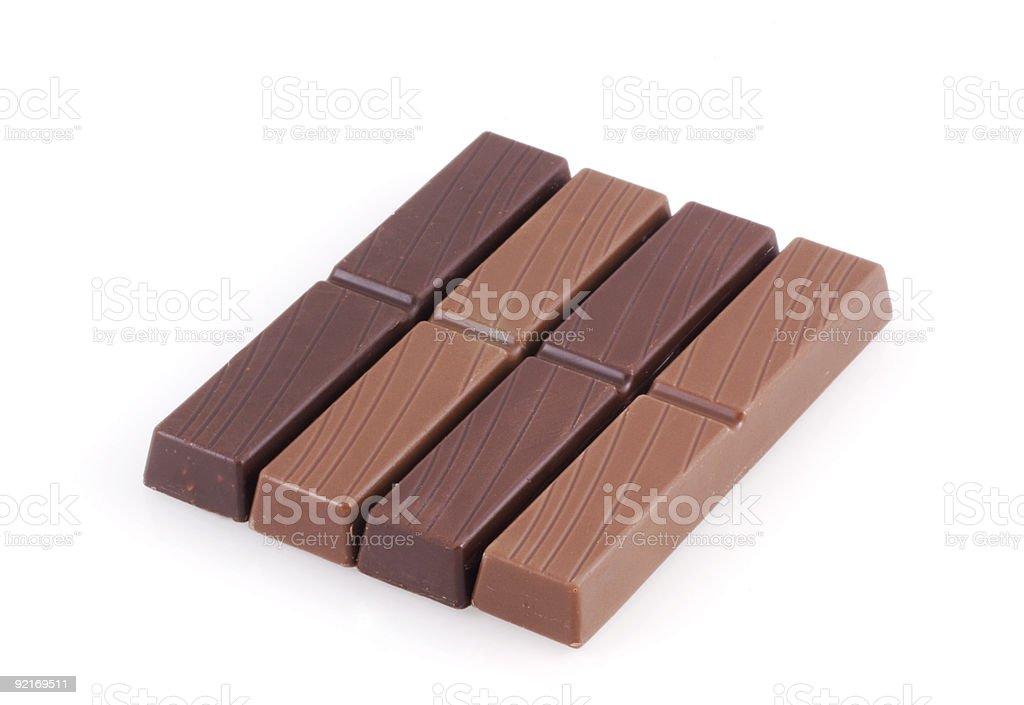Little chocolate bars. royalty-free stock photo