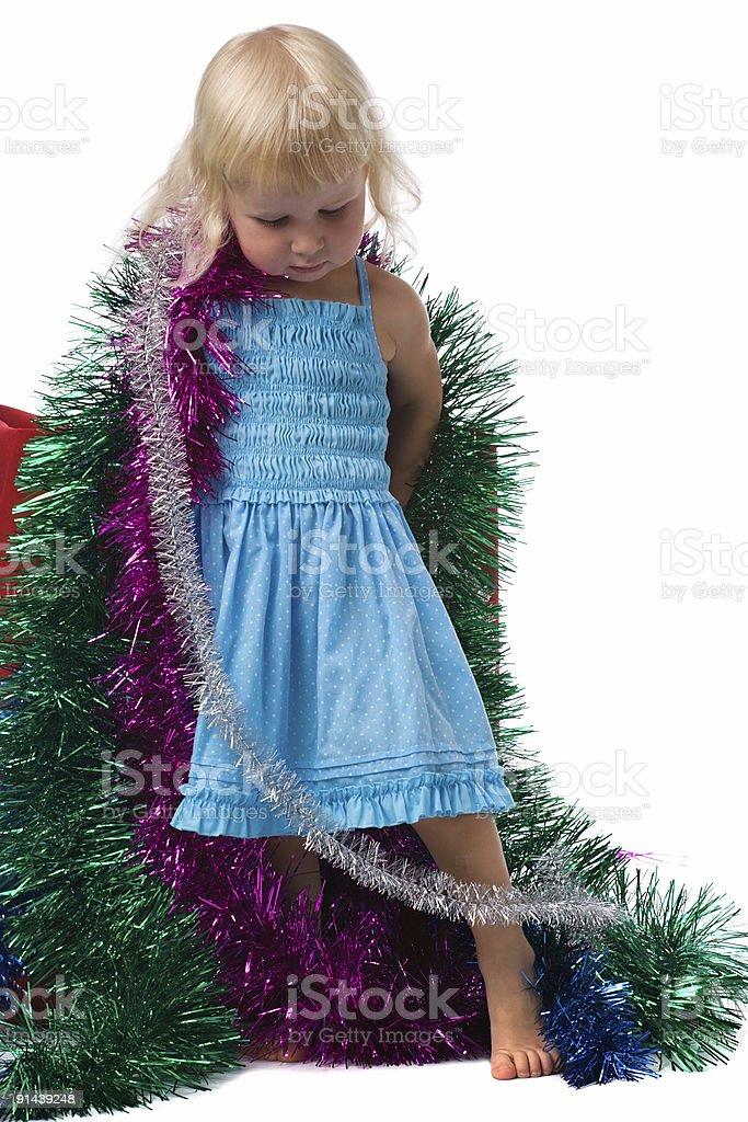 little Christmas girl royalty-free stock photo