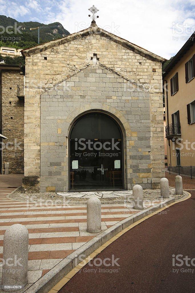 Little church in Campione d'Italia stock photo