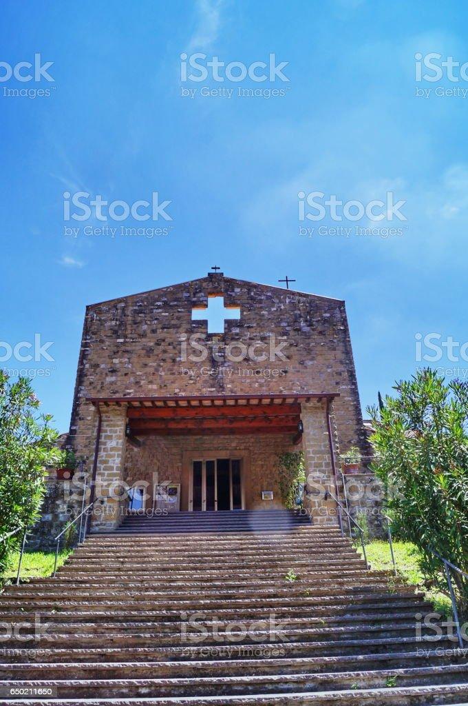 Little church in Fiesole, Tuscany stock photo