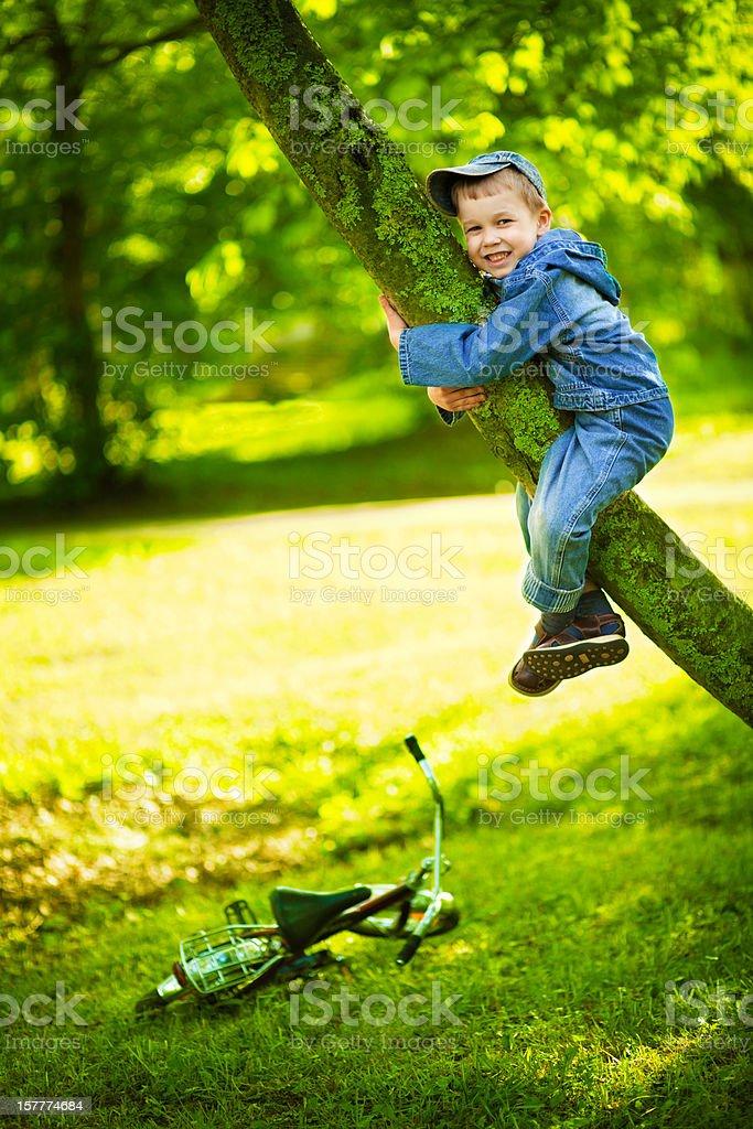 Little climber stock photo