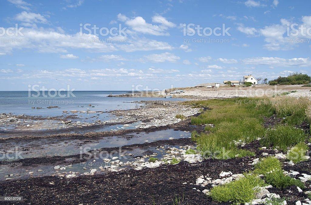 Little coastline house royalty-free stock photo