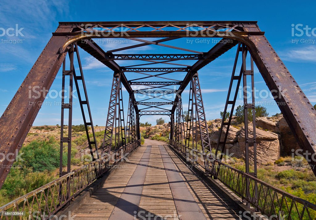 Little Colorado River bridge stock photo