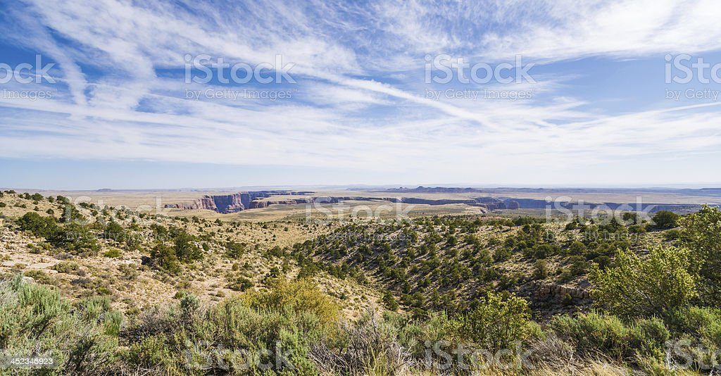 Little Colorado River Canyon in Arizona, USA stock photo