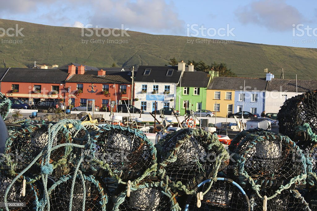 Little colorful fishing village in Ireland royalty-free stock photo