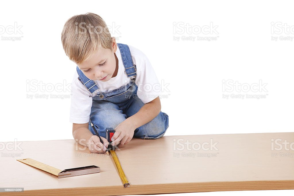 Little construction kid royalty-free stock photo