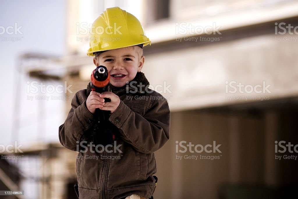 Little Construction Worker royalty-free stock photo