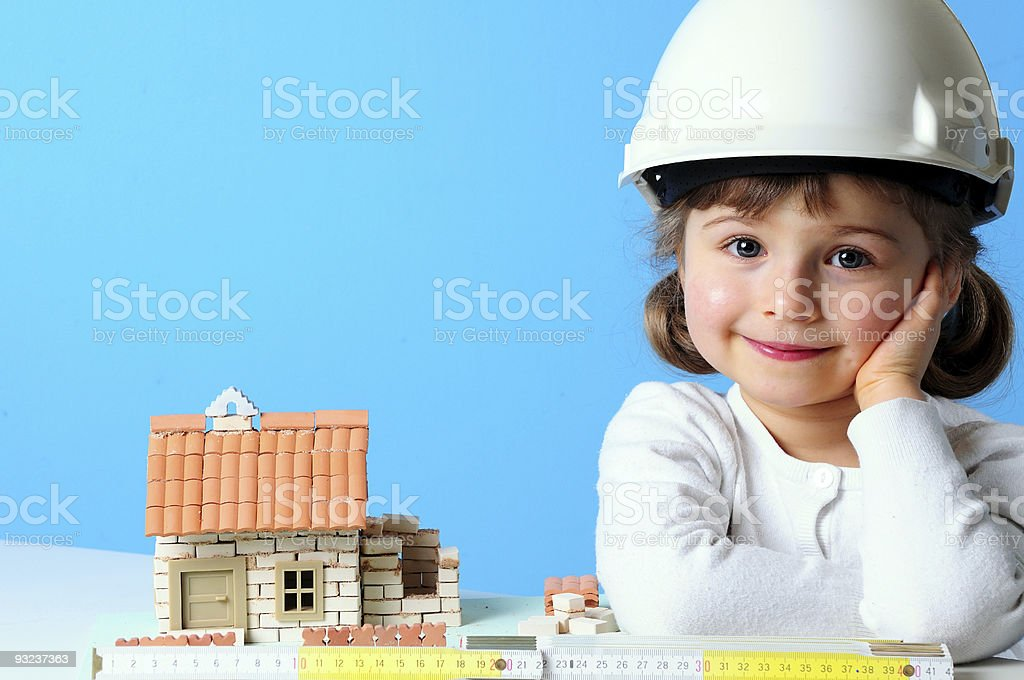Little constructor royalty-free stock photo