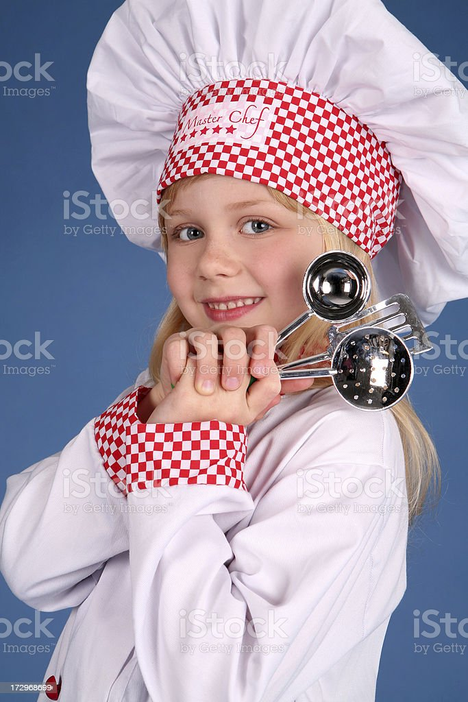 Little Cook royalty-free stock photo