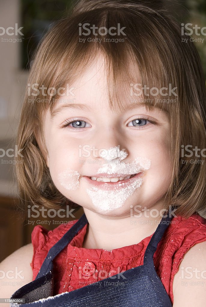 Little Cook stock photo