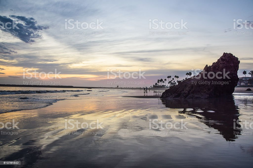 Little Corona State Beach, Corona Del Mar, Southern California stock photo