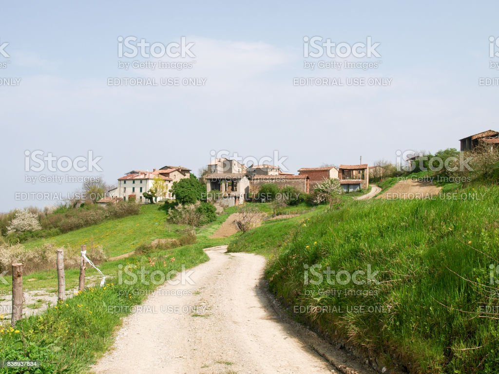 little country isolated village stock photo