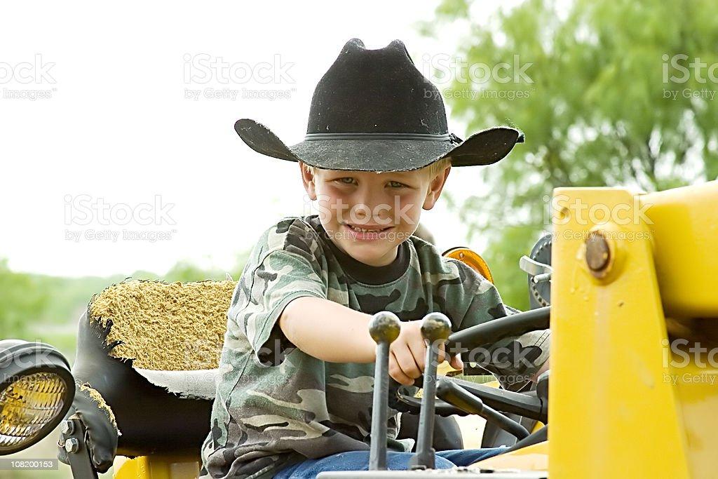 Little Cowboy Farmer royalty-free stock photo