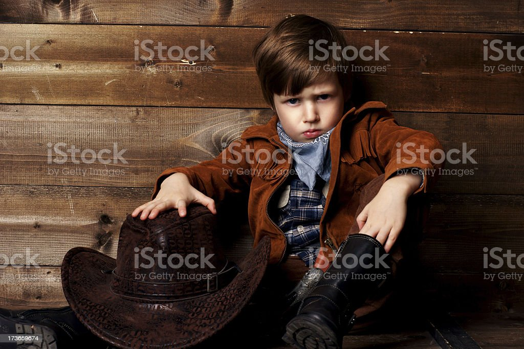 little cowboy royalty-free stock photo