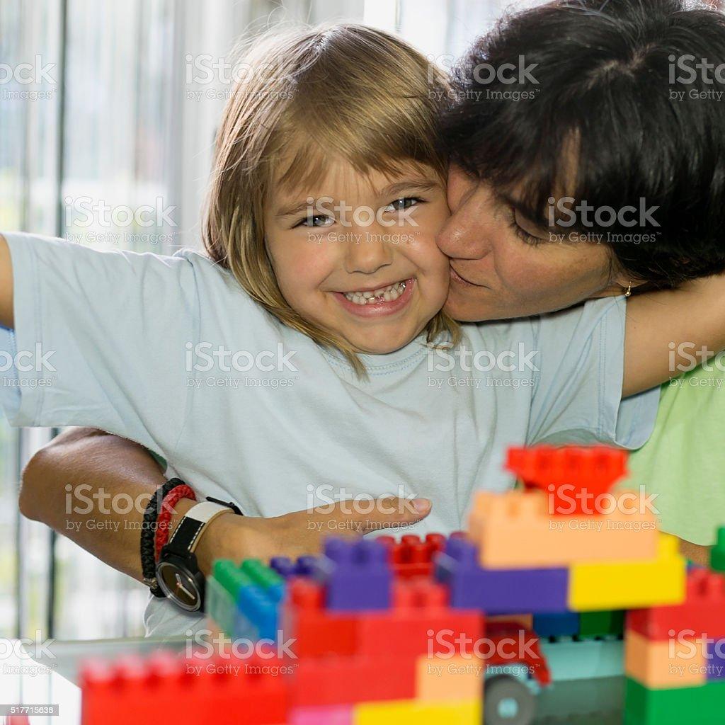 Little cubes stock photo