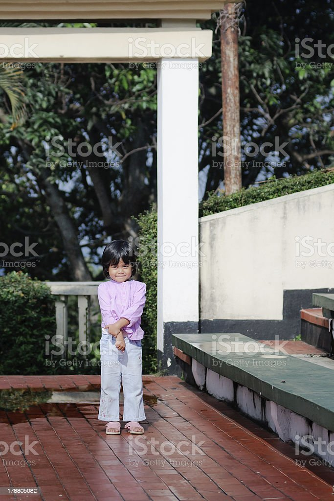 little cute asian girl posing royalty-free stock photo