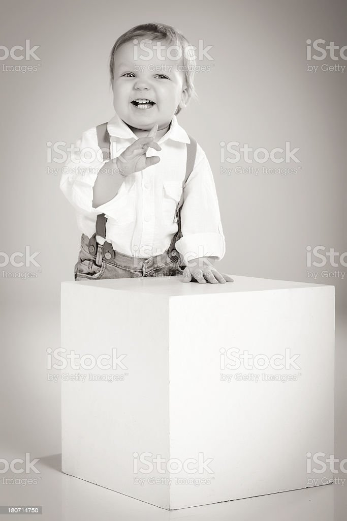 Little cute boy laughing royalty-free stock photo