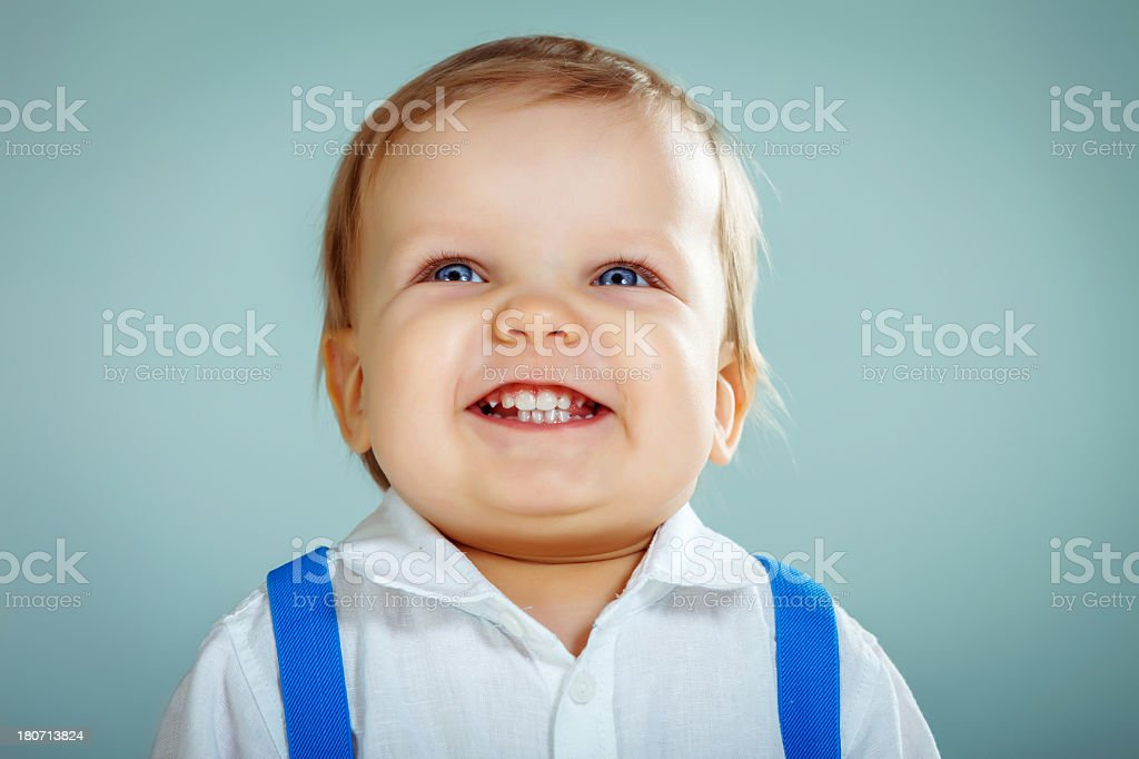 Little cute boy smiling royalty-free stock photo