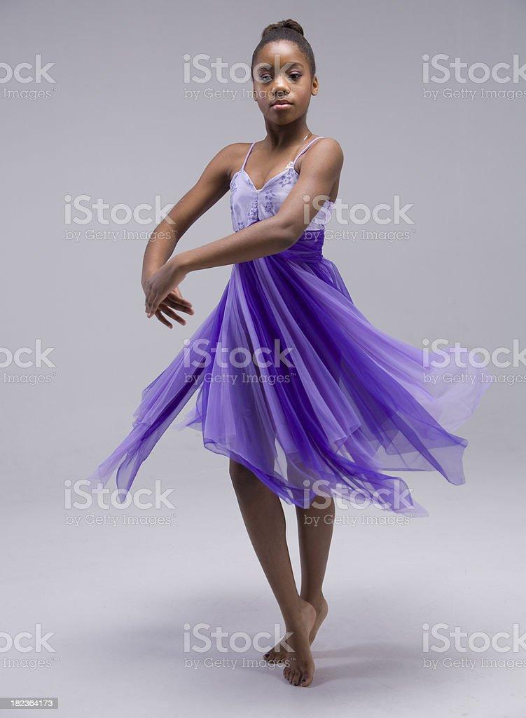 Little Dancing Ballerina royalty-free stock photo
