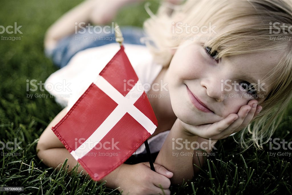 Little Danish Girl stock photo