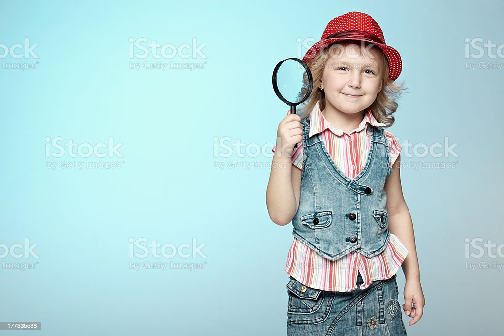 Little detective royalty-free stock photo