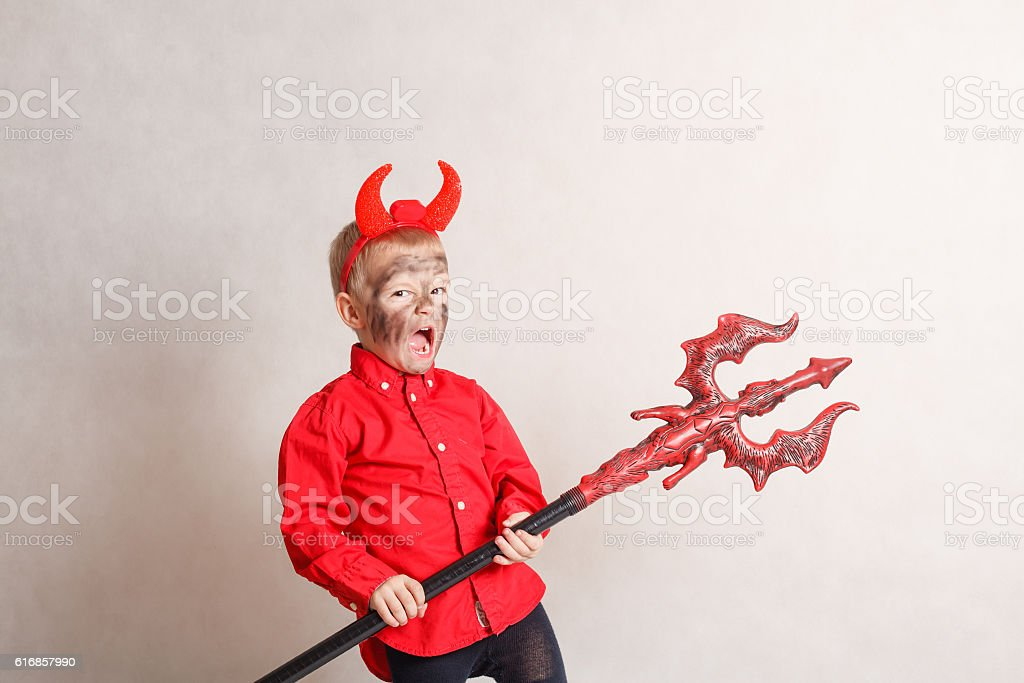 Little devil. stock photo