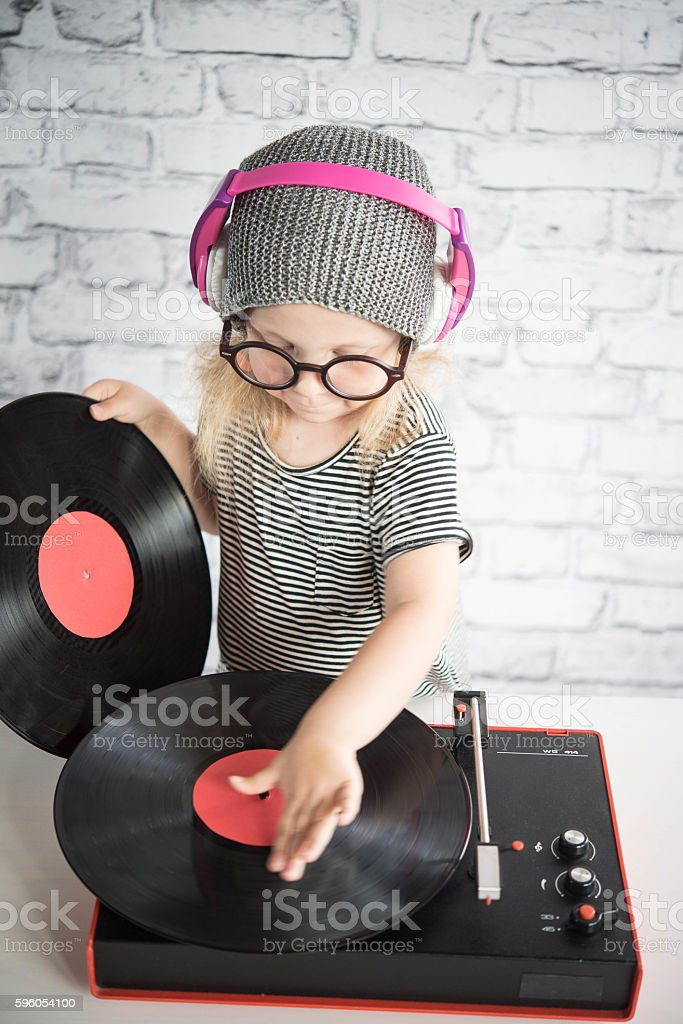 Little DJ stock photo