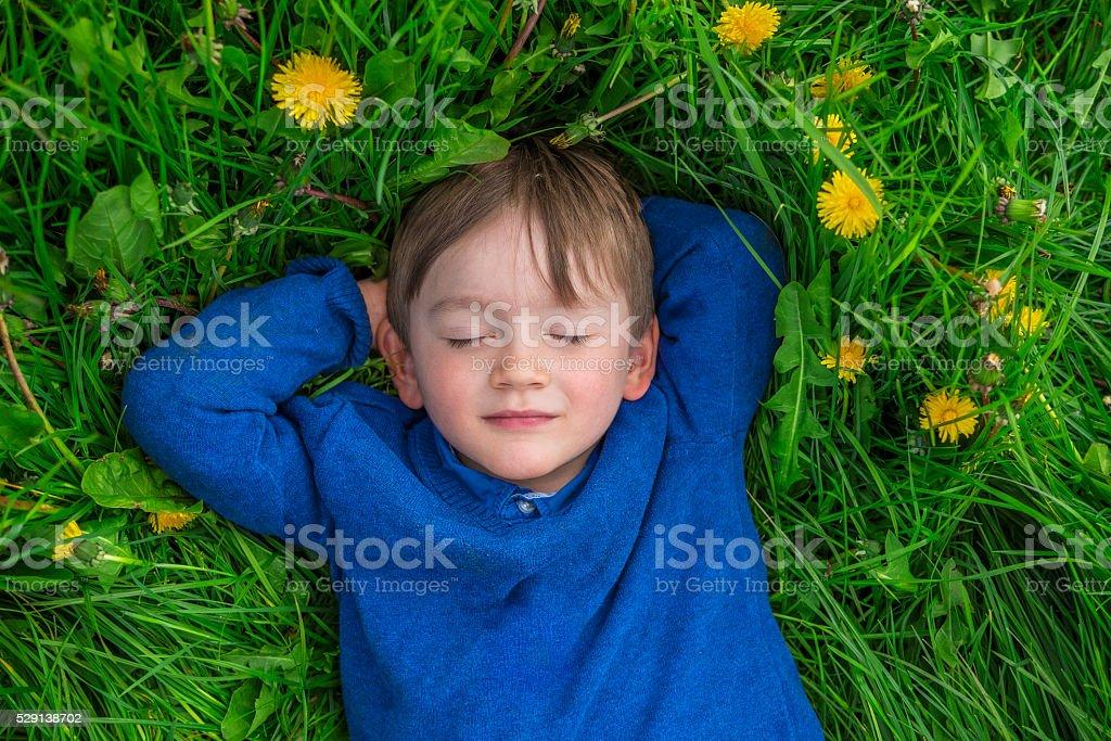 Little dreamer stock photo