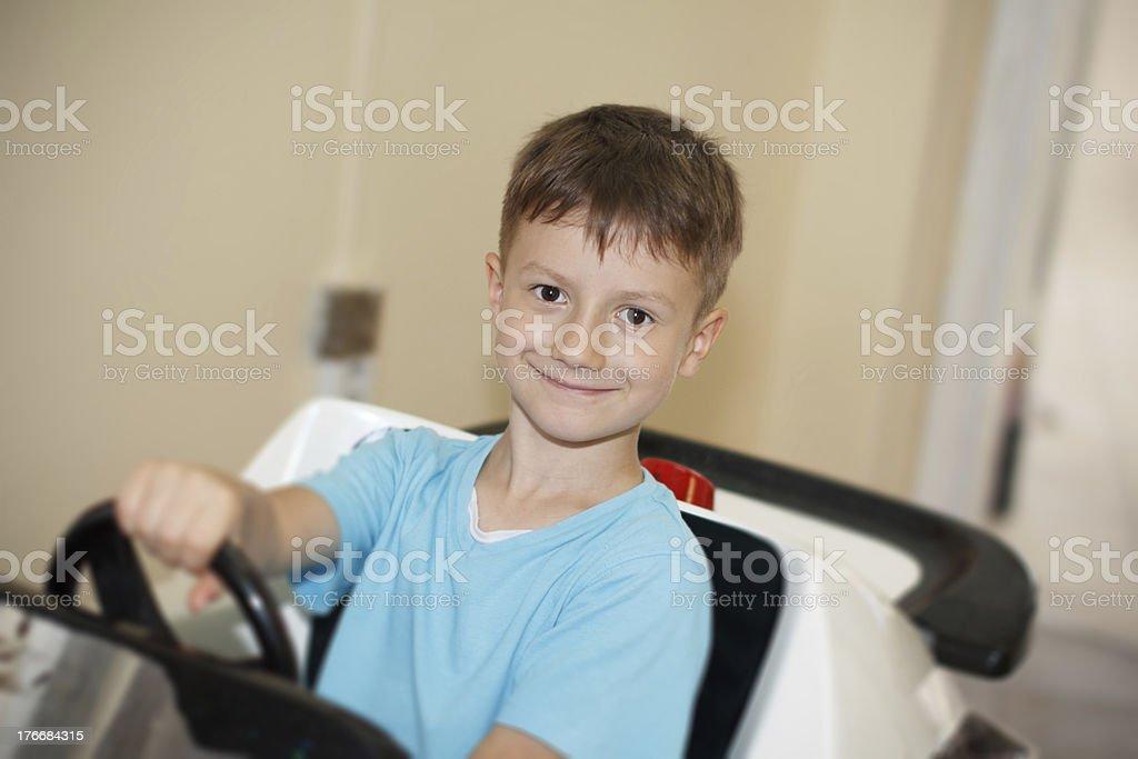 Little driver boy royalty-free stock photo