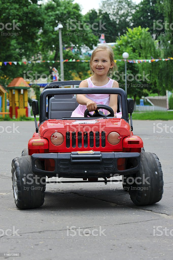 Little driver royalty-free stock photo