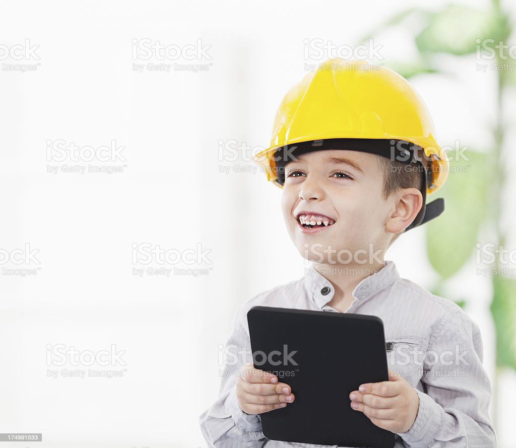 Little engineer royalty-free stock photo