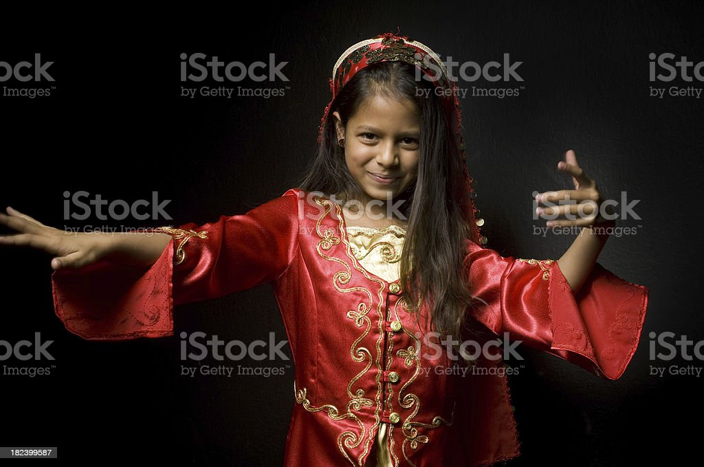 Little ethnic dancer royalty-free stock photo