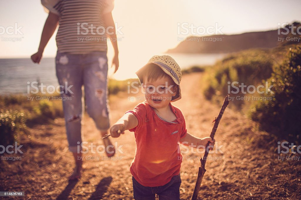 Little explorer stock photo