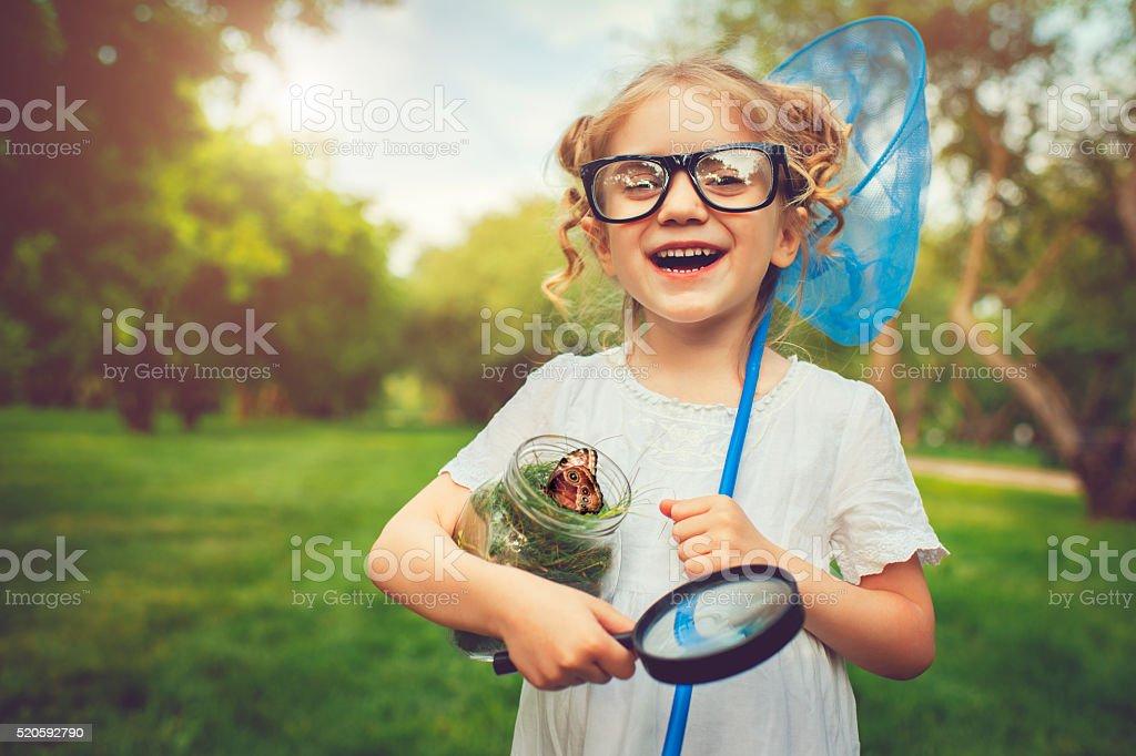 Little explorer stock photo