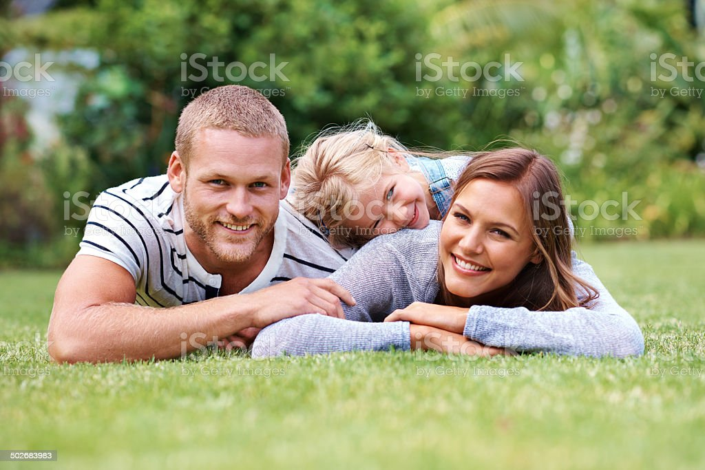 Little family with a lot of love royalty-free stock photo