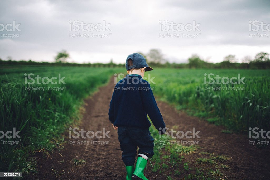 Little farmer stock photo