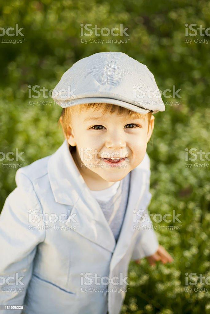 Little fashion model royalty-free stock photo