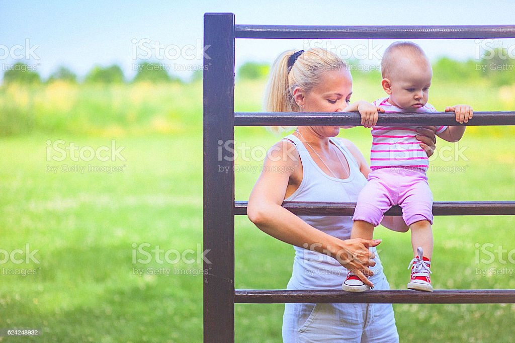Little fighter with big heart stock photo