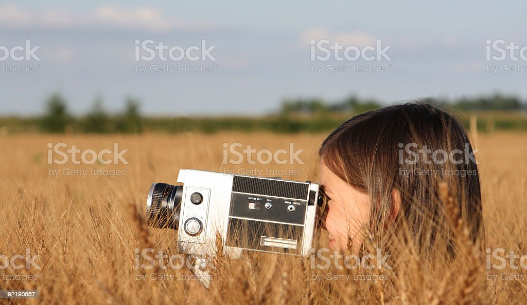 Little film maker stock photo