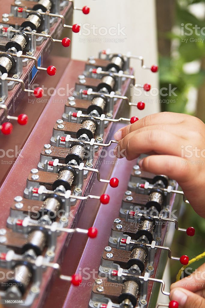 Little fingers playing music royalty-free stock photo