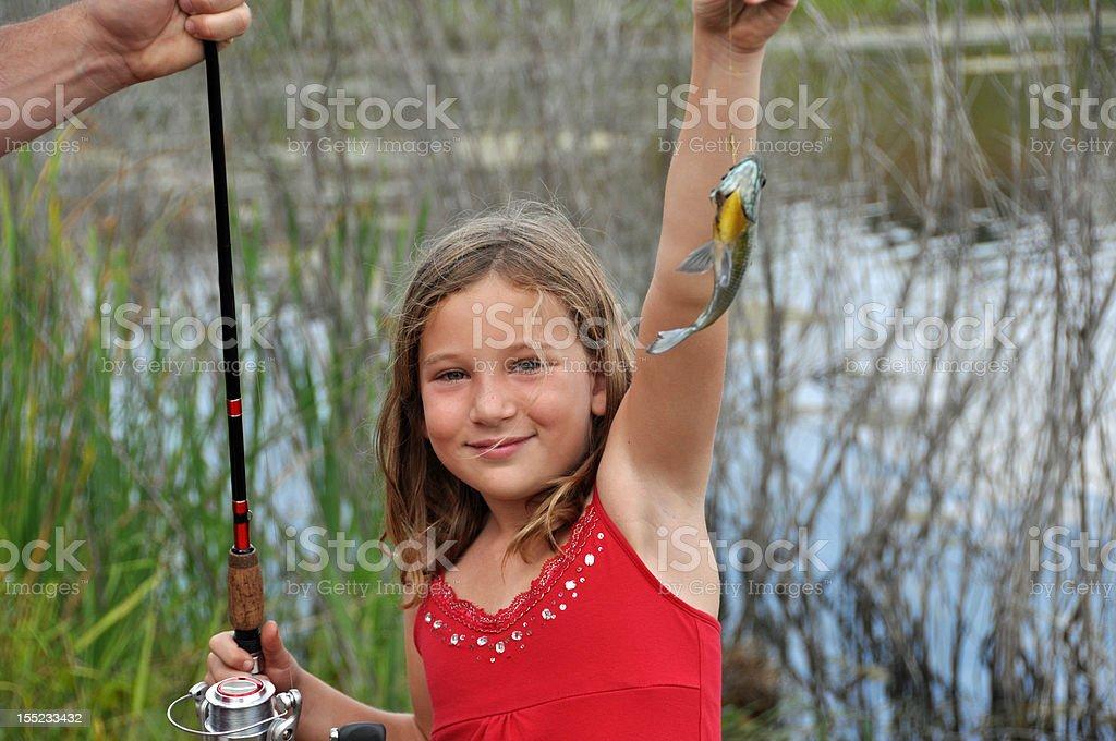 little fishergirl royalty-free stock photo